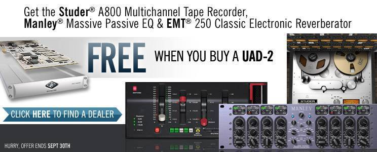 news: Universal Audio - UAD-2 Premium Plug-In Promotion