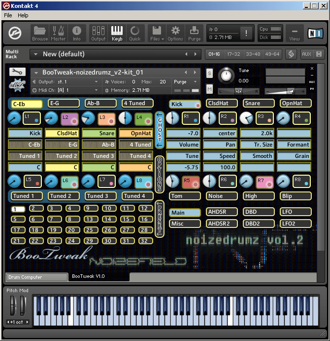Noizefield Instruments - Noizedrumz Vol.2 Screenshot