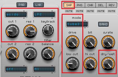 Schritt 2 Filter und Shaper