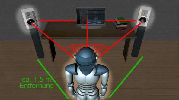 Screen 1 Boxen Dreieck gedimmt mit Abstandmass