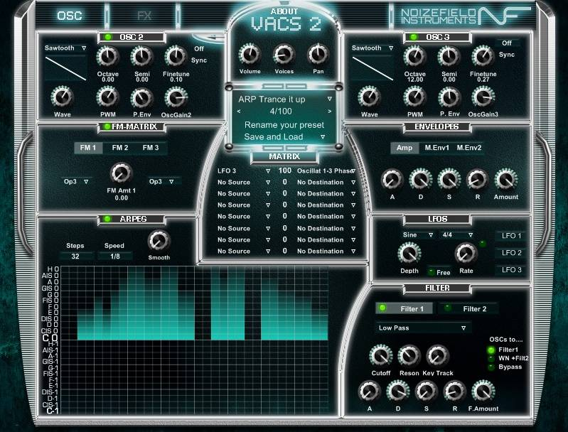 Sintetizador virtual para PC, Noizefield VACS2