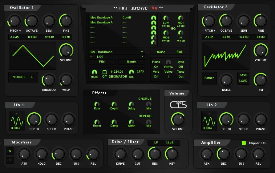 Exotic – Freeware synth by JB and CPS