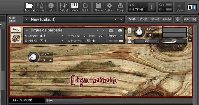 Orgue Barbarie - Free NI Kontakt organ by Rossignol Studio