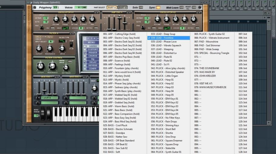 70 free presets for Sylenth