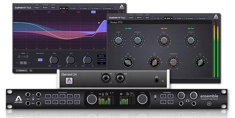 apogee announced dualpath fx rack plug