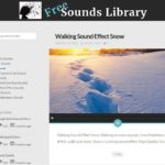 Free sounds library