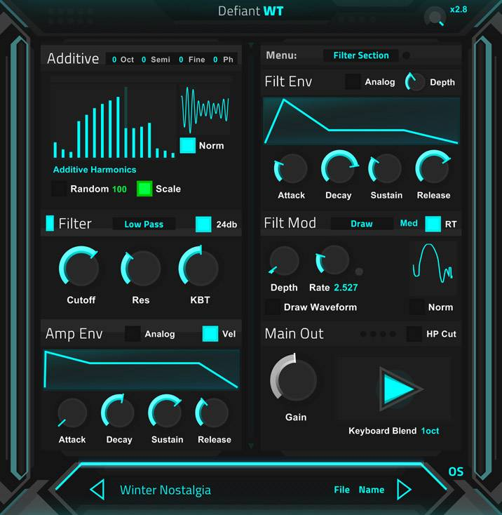Ocean Swift releases free synthesizer Defiant WT